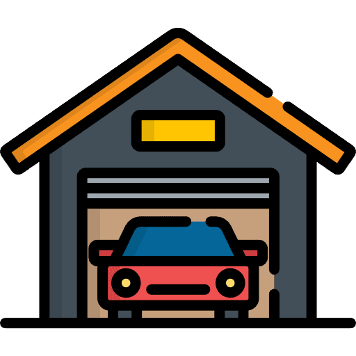 Garage or basement car space cleaning