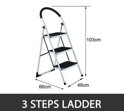 Can all windows be accessed using a 3 step ladder?